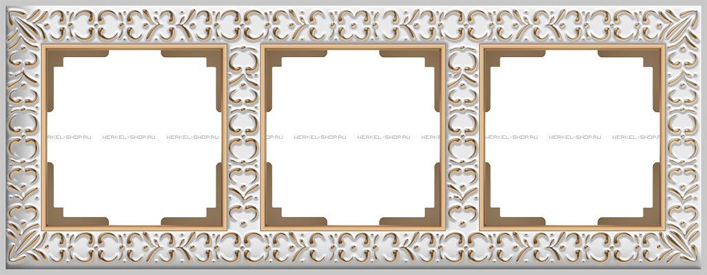 Рамка Antik на 3 поста бронза WL07-Frame-03 4690389054372