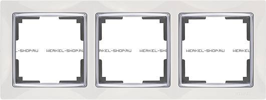 Рамка Snabb на 3 поста белая WL03-Frame-03-white 4690389046124
